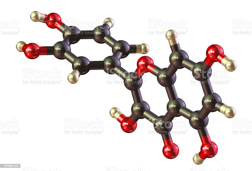 Isolated graphic illustration of queerest in molecule royalty-free stock photo