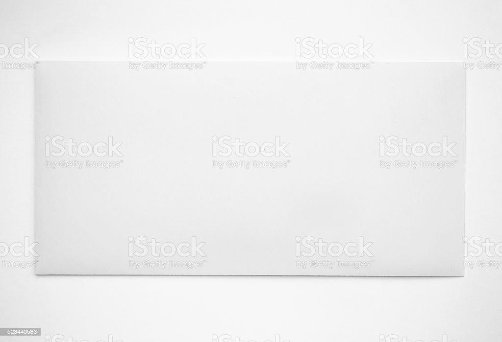 Isolated gray Envelope on white stock photo