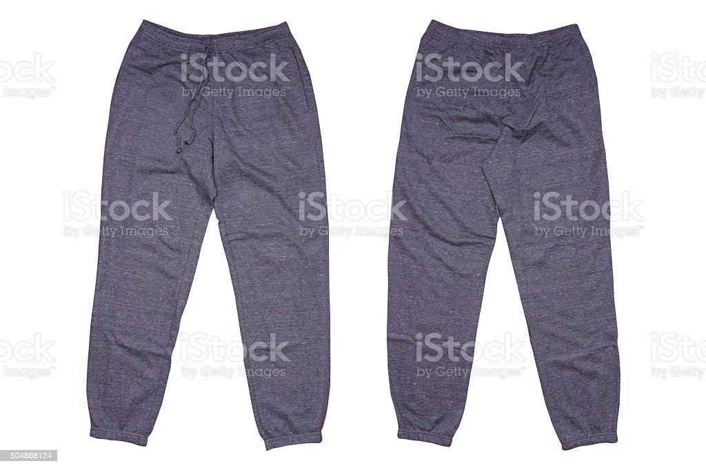 Isolated gray sweatpants stock photo