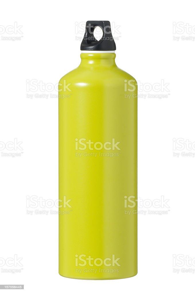 Isolated green flask stock photo