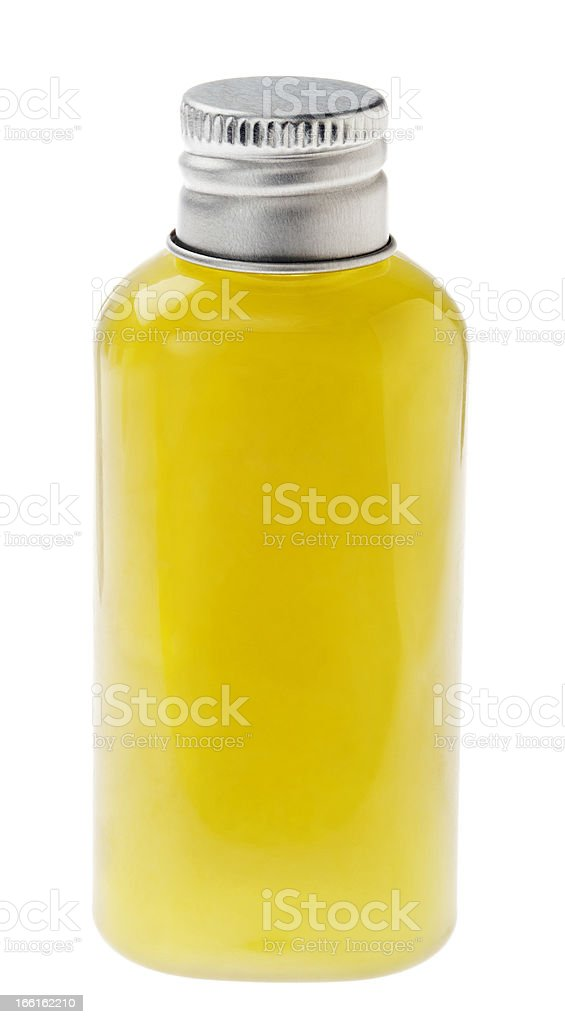 Isolated Green Lotion Bottle royalty-free stock photo