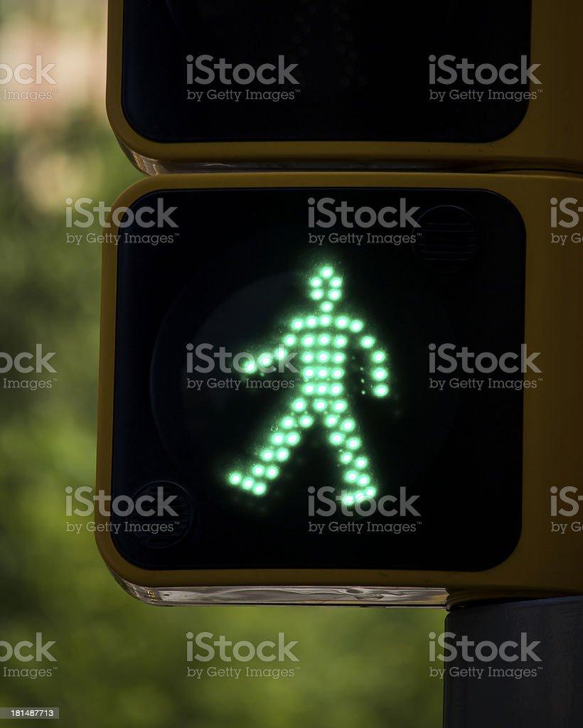 Isolated green man stock photo