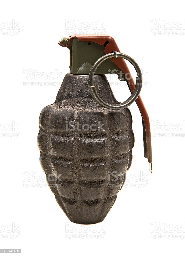 Isolated grenade stock photo