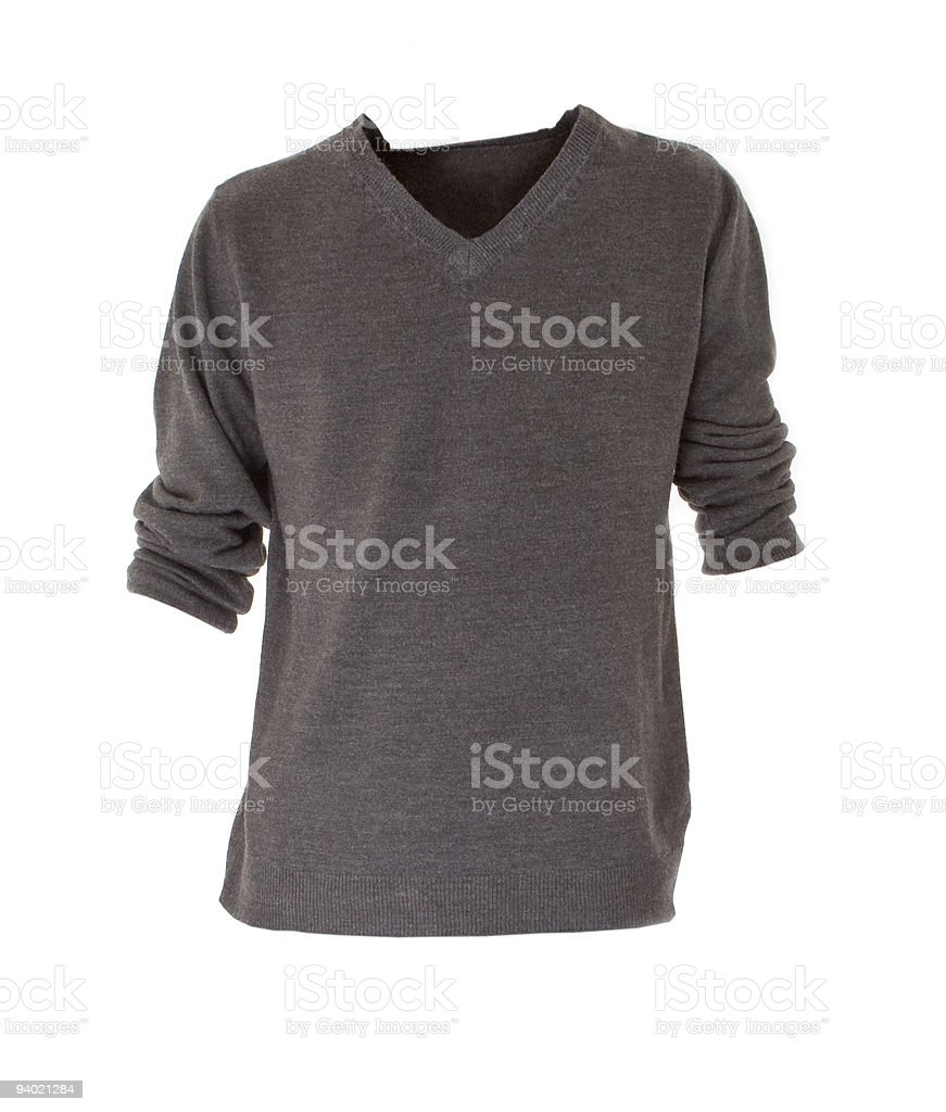 Isolated Grey Cardigan stock photo