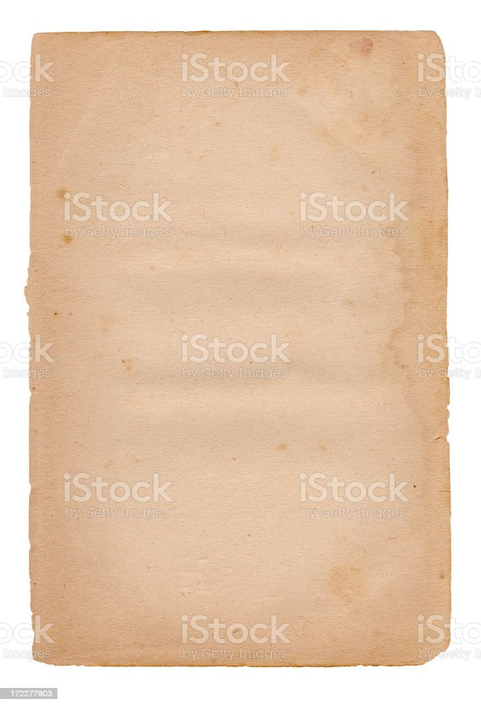 Isolated Grunge Paper XXXL royalty-free stock photo