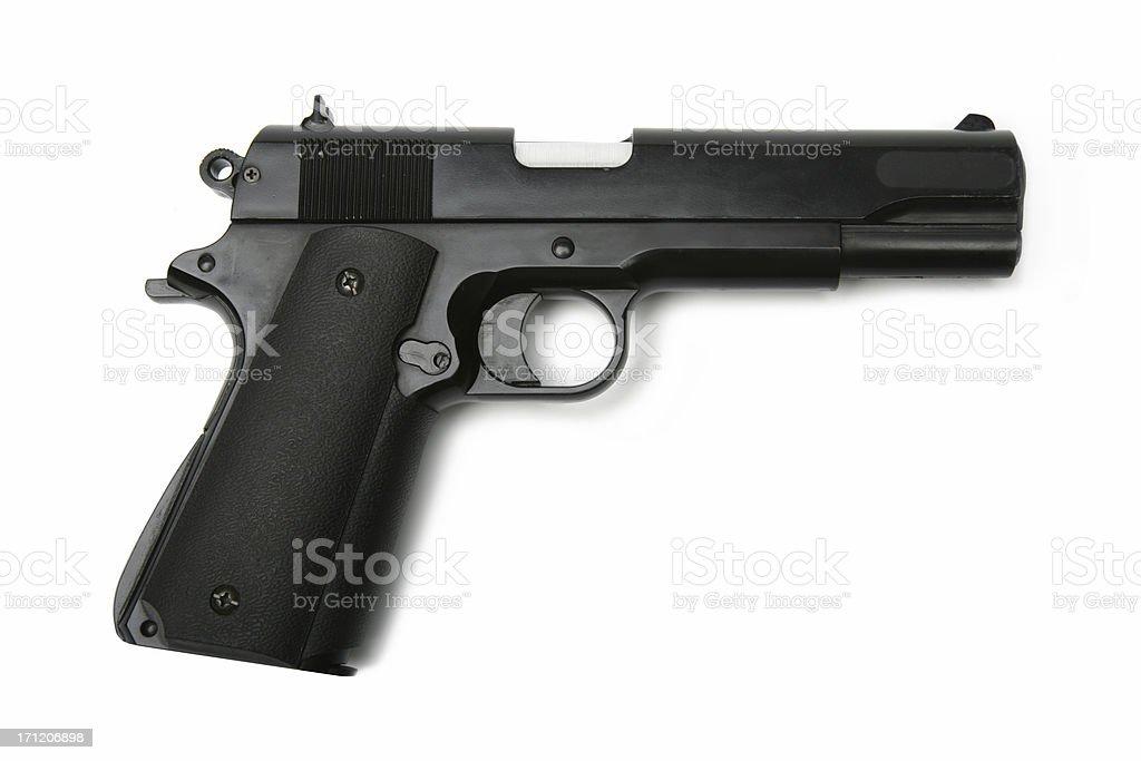 Isolated gun royalty-free stock photo
