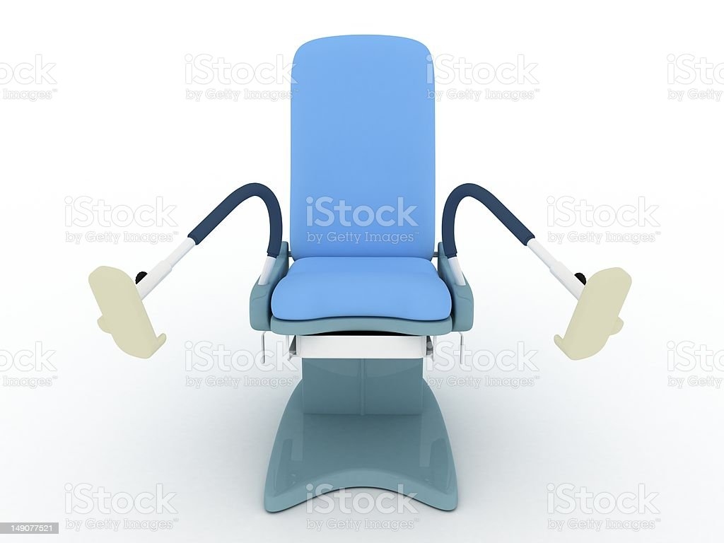 Isolated Gynecoly Chair royalty-free stock photo