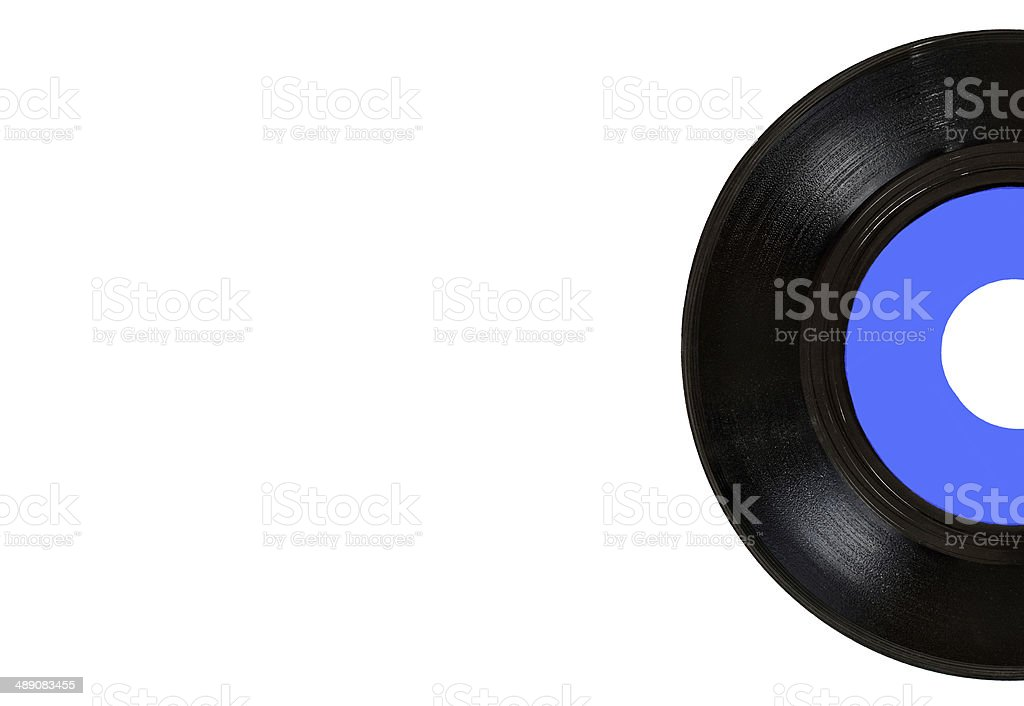isolated half blue vinyl on right stock photo
