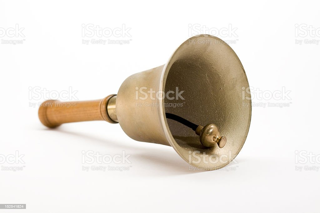 Isolated hand bell royalty-free stock photo