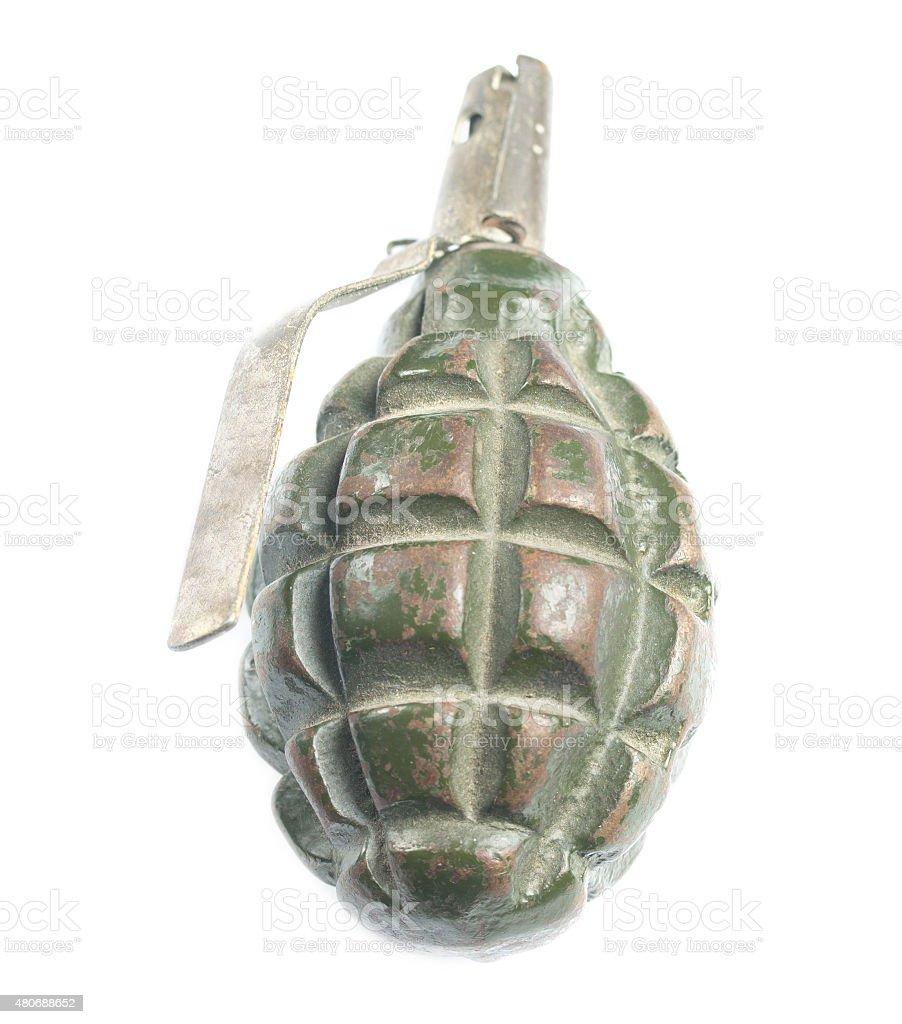 Isolated hand grenade stock photo