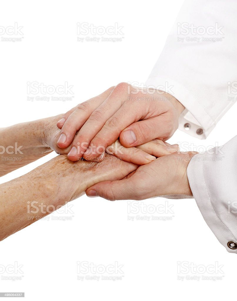 Isolated hands stock photo