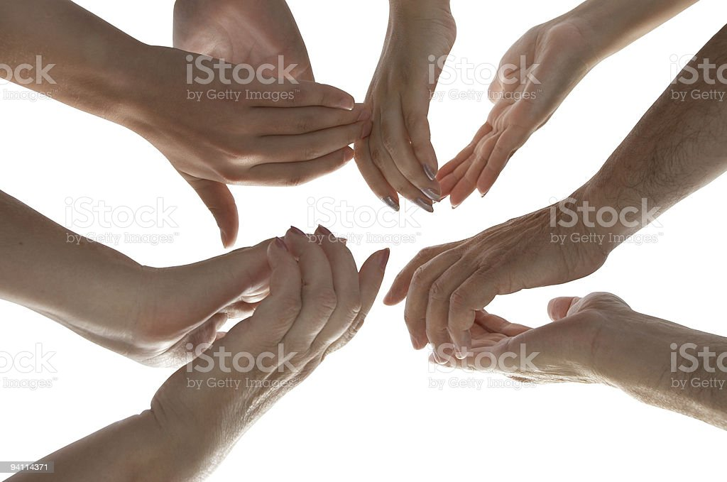 isolated hands with clipping path royalty-free stock photo