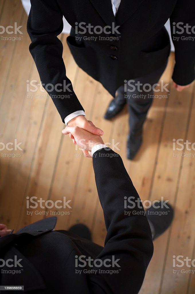 Isolated Handshake in high resolution royalty-free stock photo