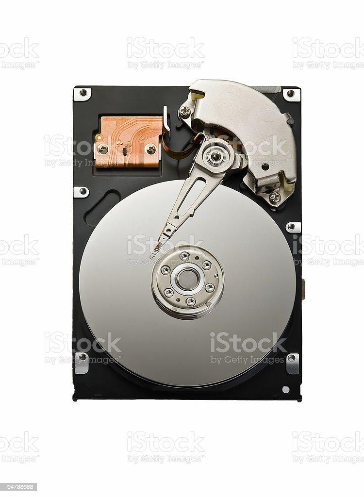 Isolated hard drive royalty-free stock photo