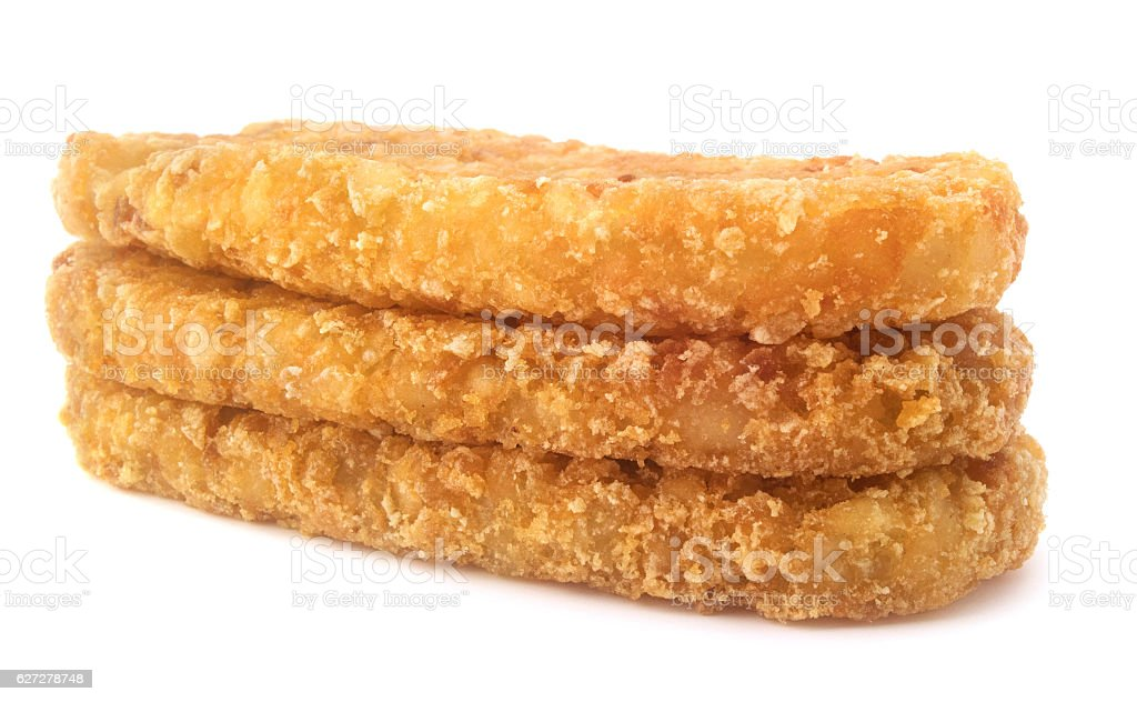 Isolated hash brown stock photo
