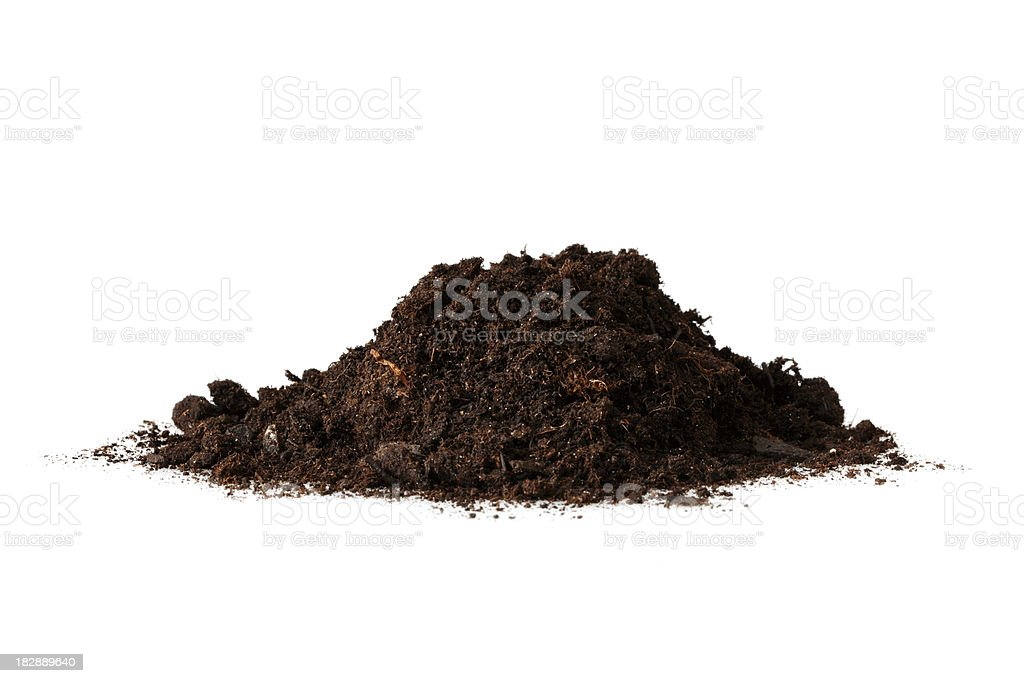 Isolated Heap of Dirt royalty-free stock photo