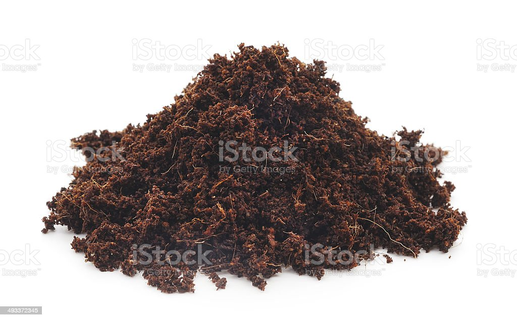 Isolated Heap of Soil stock photo