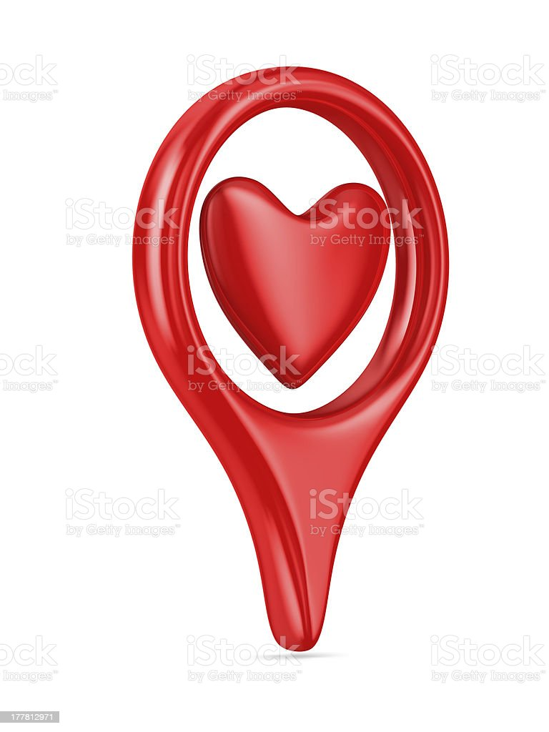 Isolated heart on white background. 3D image royalty-free stock photo