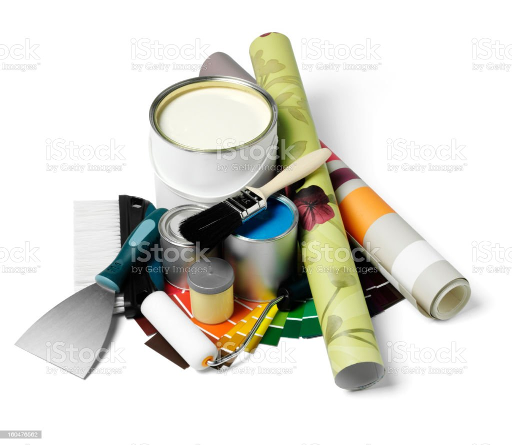 Isolated Home Decoration Equipment royalty-free stock photo