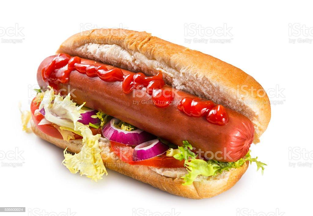 Isolated hot dog stock photo