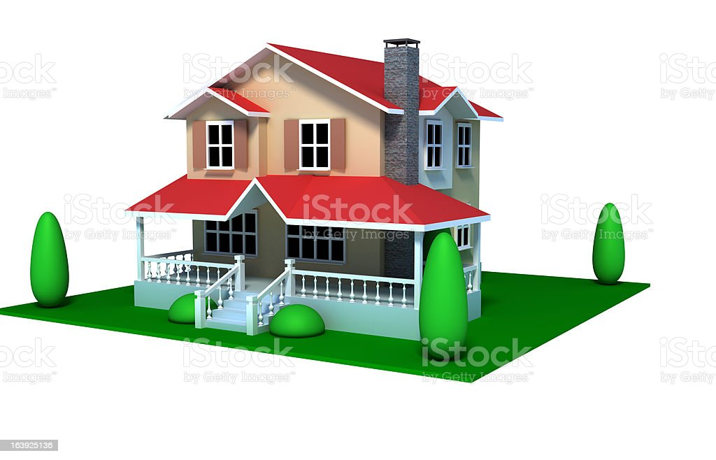 Isolated House stock photo
