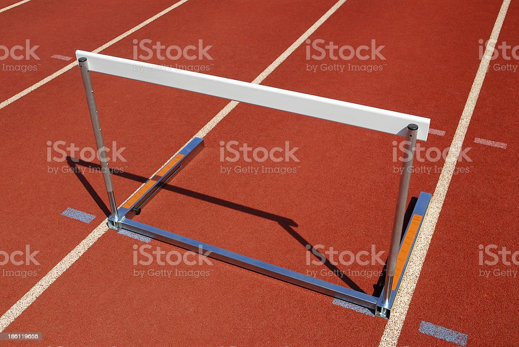 Isolated Hurdle stock photo