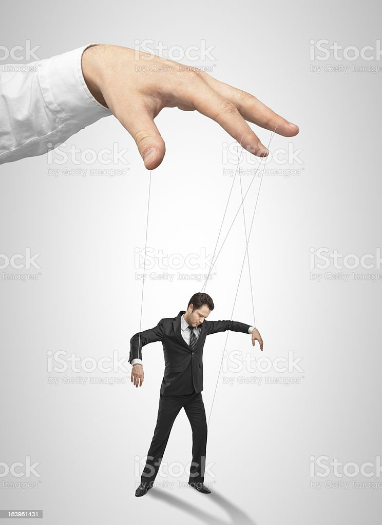 Isolated image of a puppet of a businessman stock photo