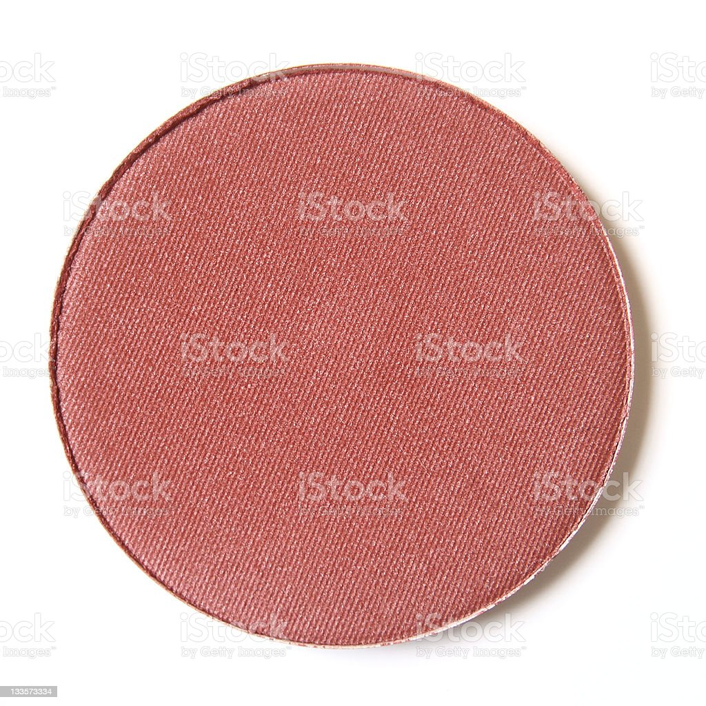 Isolated image of a red puff used to apply makeup royalty-free stock photo