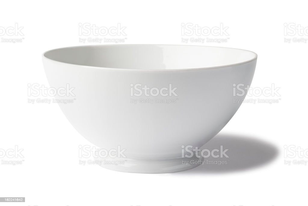 Isolated image of a white bowl stock photo