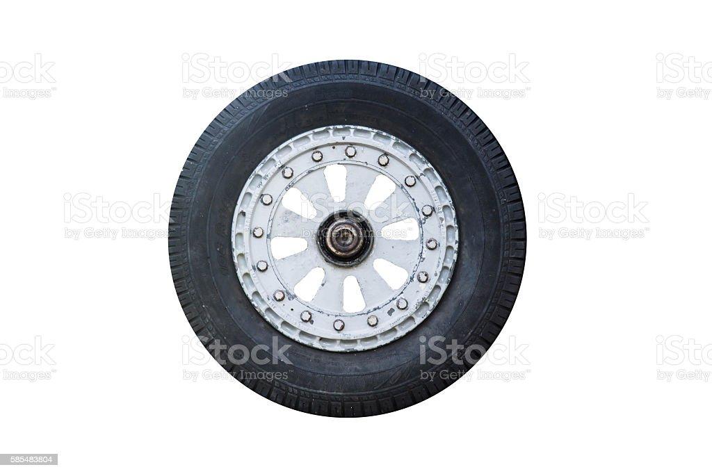 Isolated Image Of Airplane Wheels stock photo