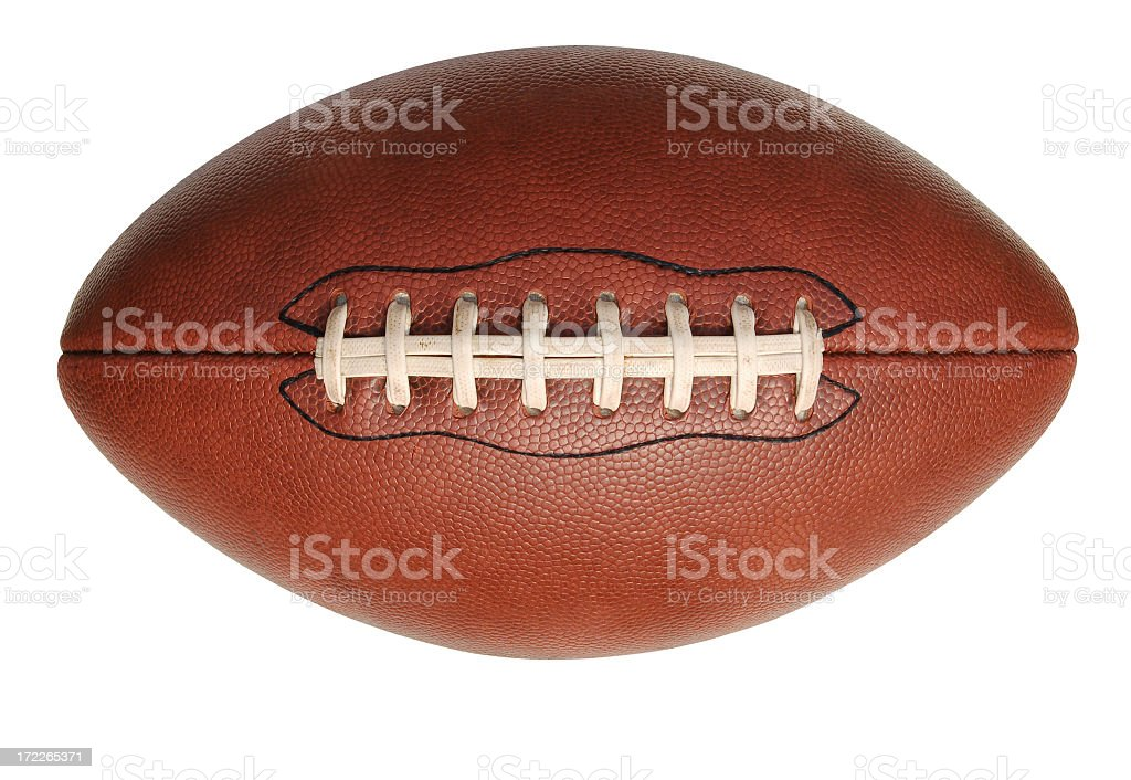 Isolated image of an American football stock photo