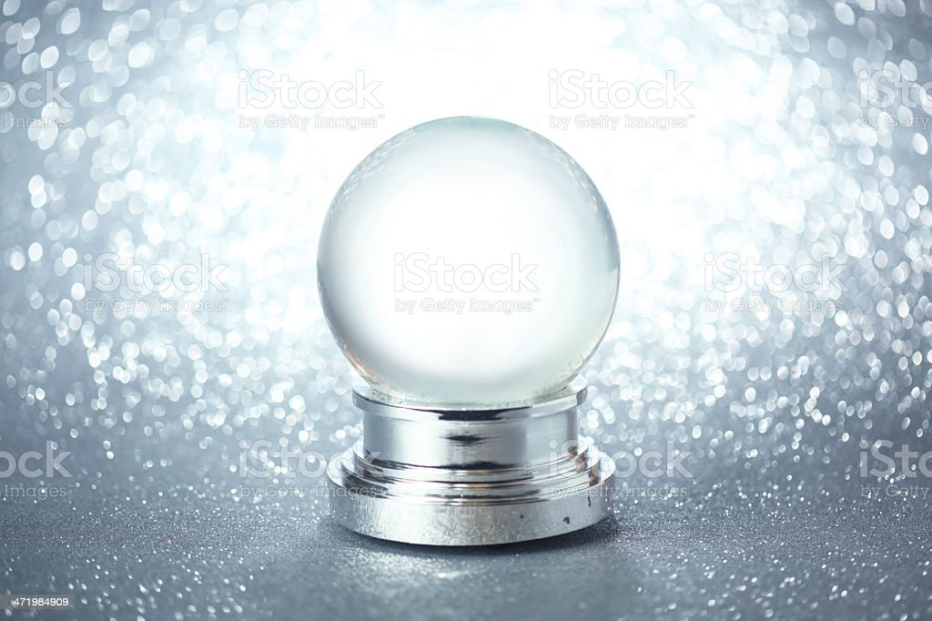 Isolated image of an empty snow globe stock photo