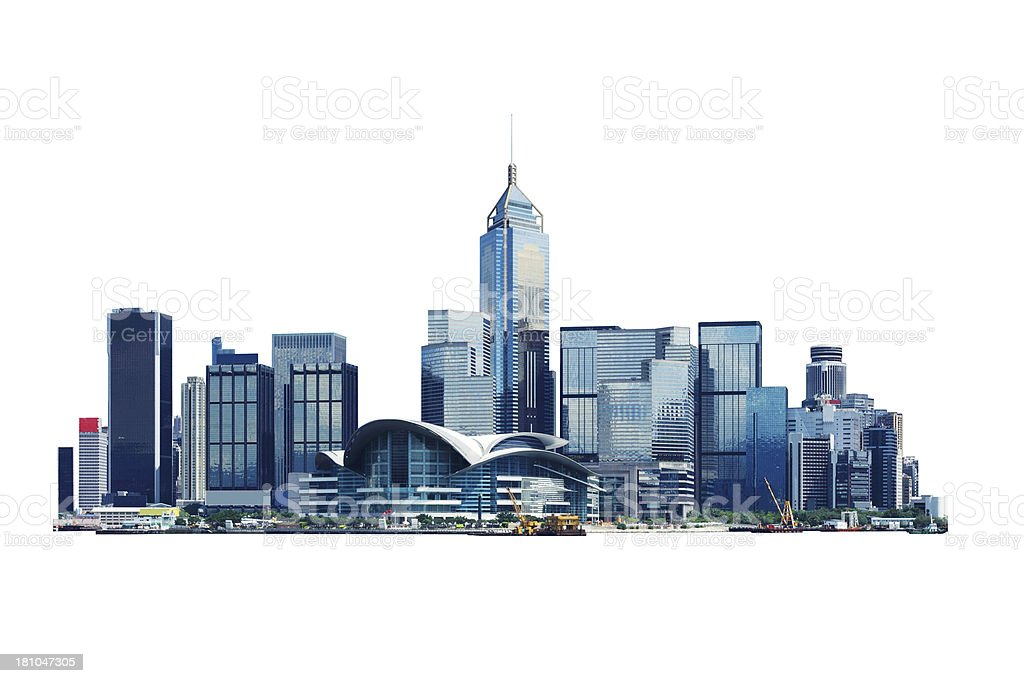 Isolated image of Hong Kong convention center stock photo