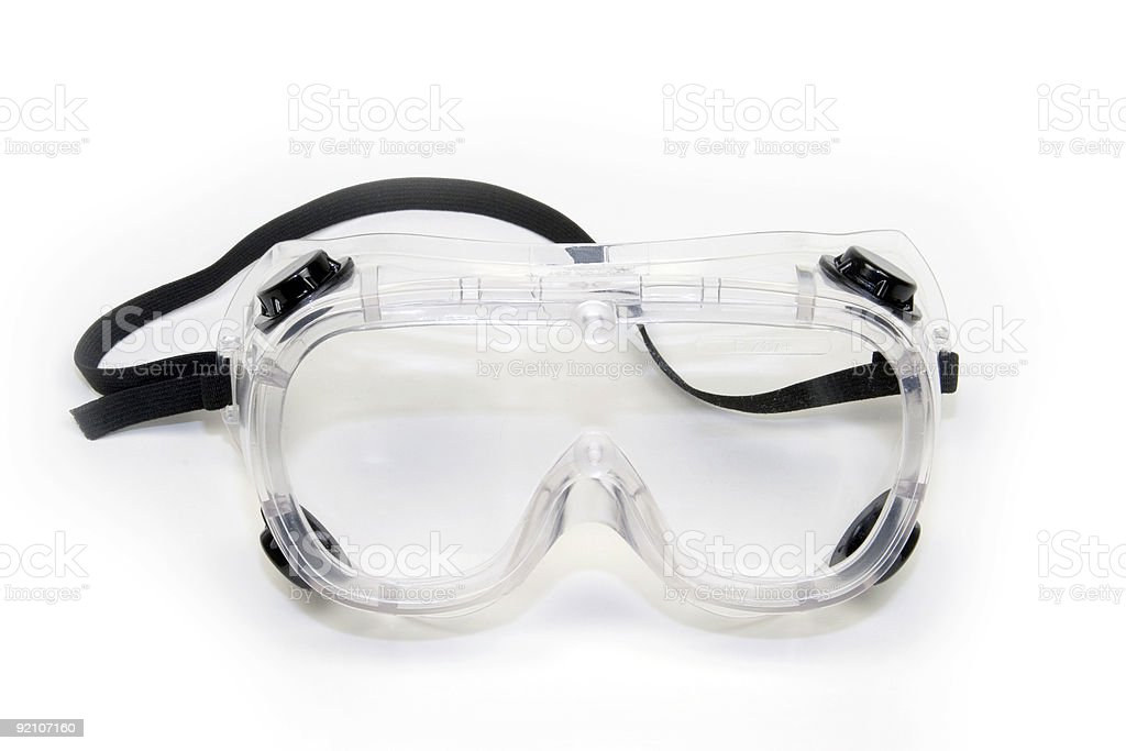 Isolated image of safety goggles stock photo