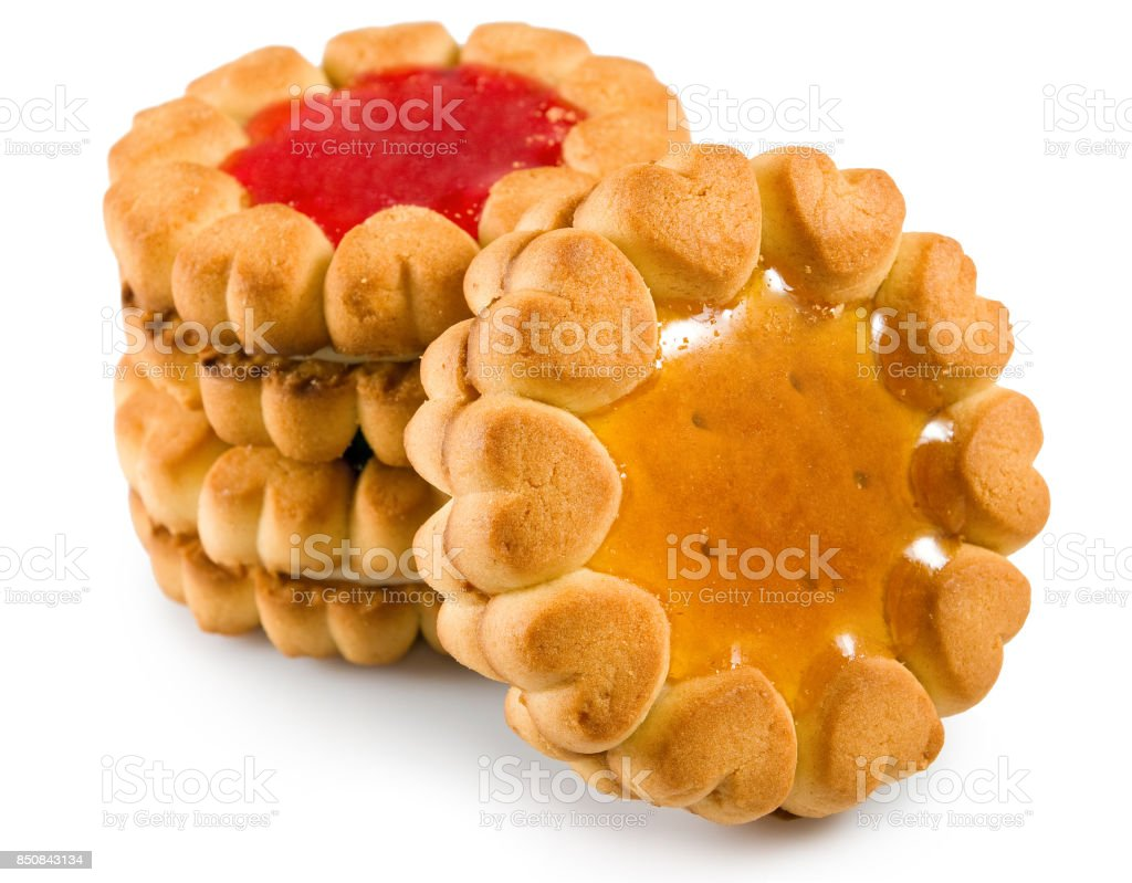 Isolated image of  tasty cookies closeup stock photo