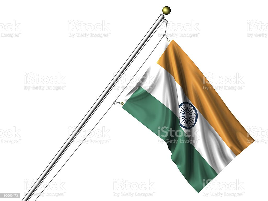 Isolated Indian Flag royalty-free stock photo