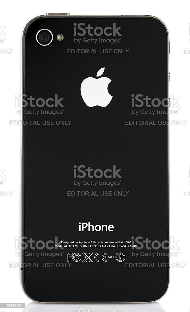 Isolated iPhone 4 - Back Side royalty-free stock photo