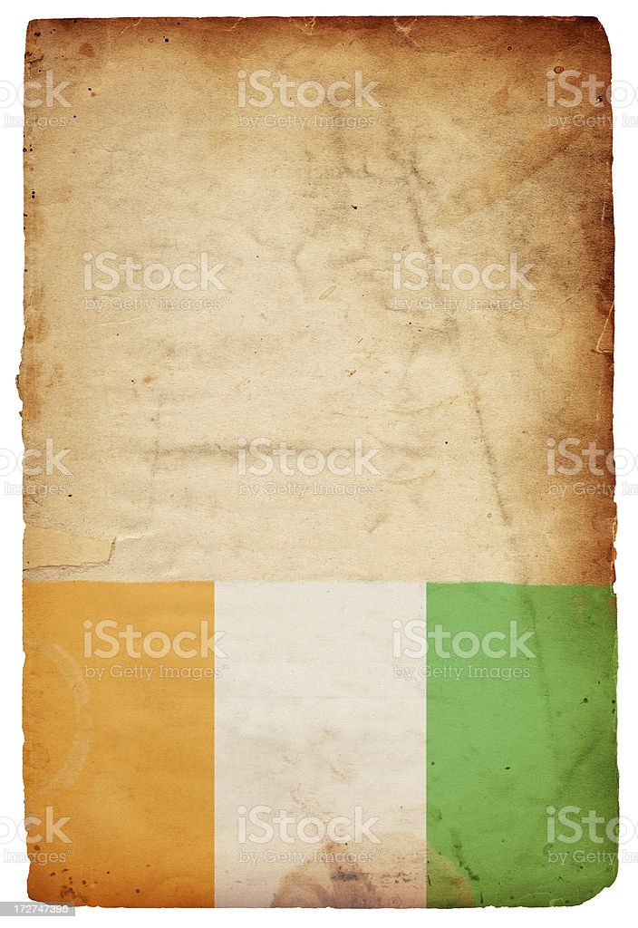 Isolated Irish Flag XXXL royalty-free stock photo