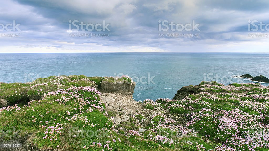 Isolated island with stunning foreground stock photo