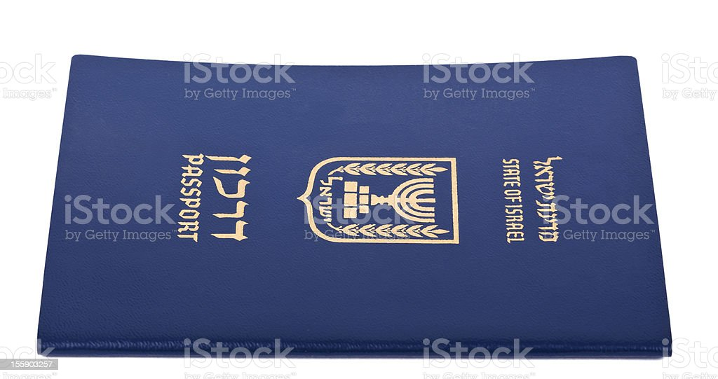 Isolated Israeli Passport royalty-free stock photo