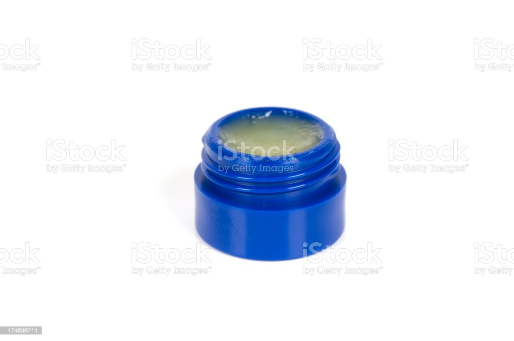 Isolated jar of Lip Balm stock photo