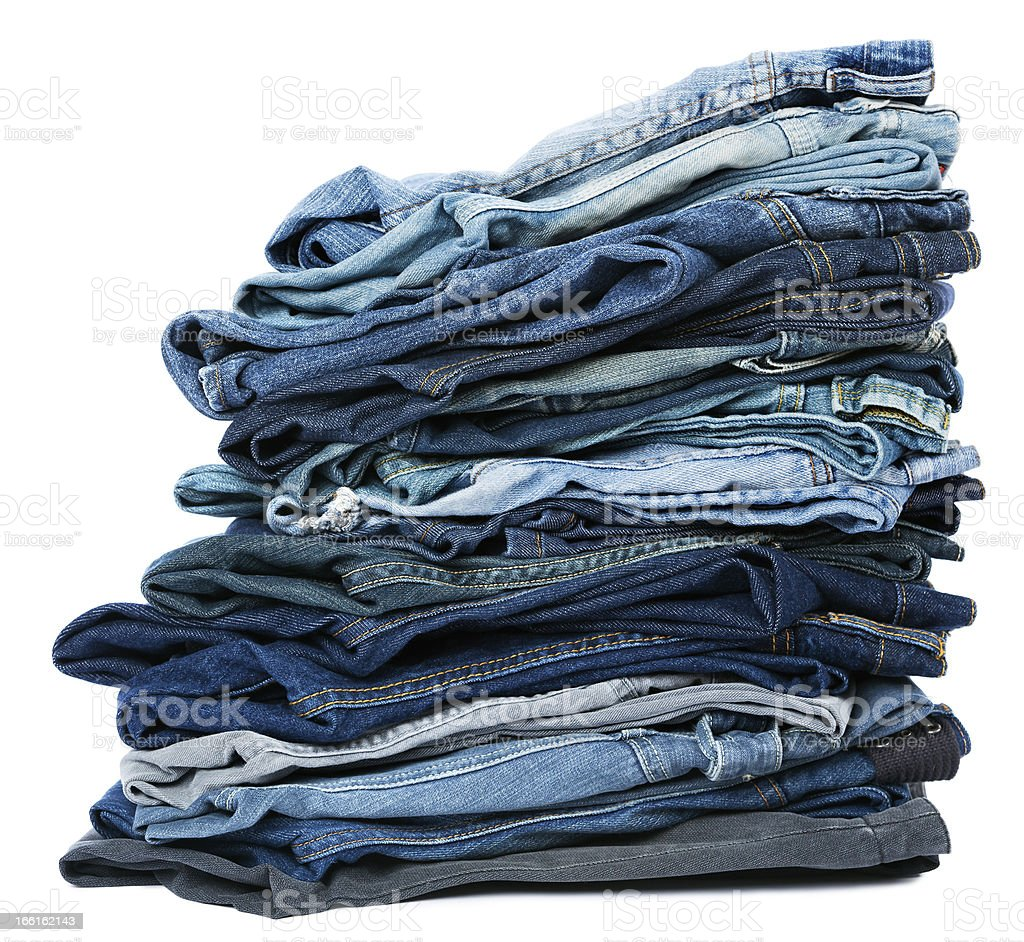 Isolated Jeans Stack royalty-free stock photo