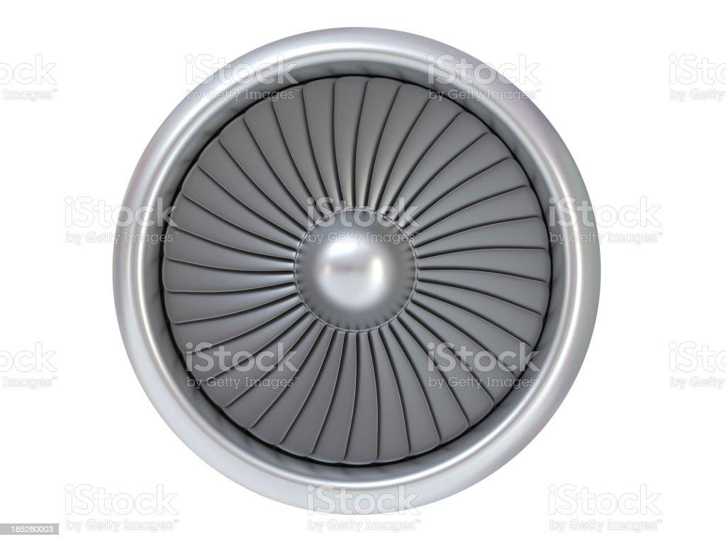 Isolated Jet Engine stock photo