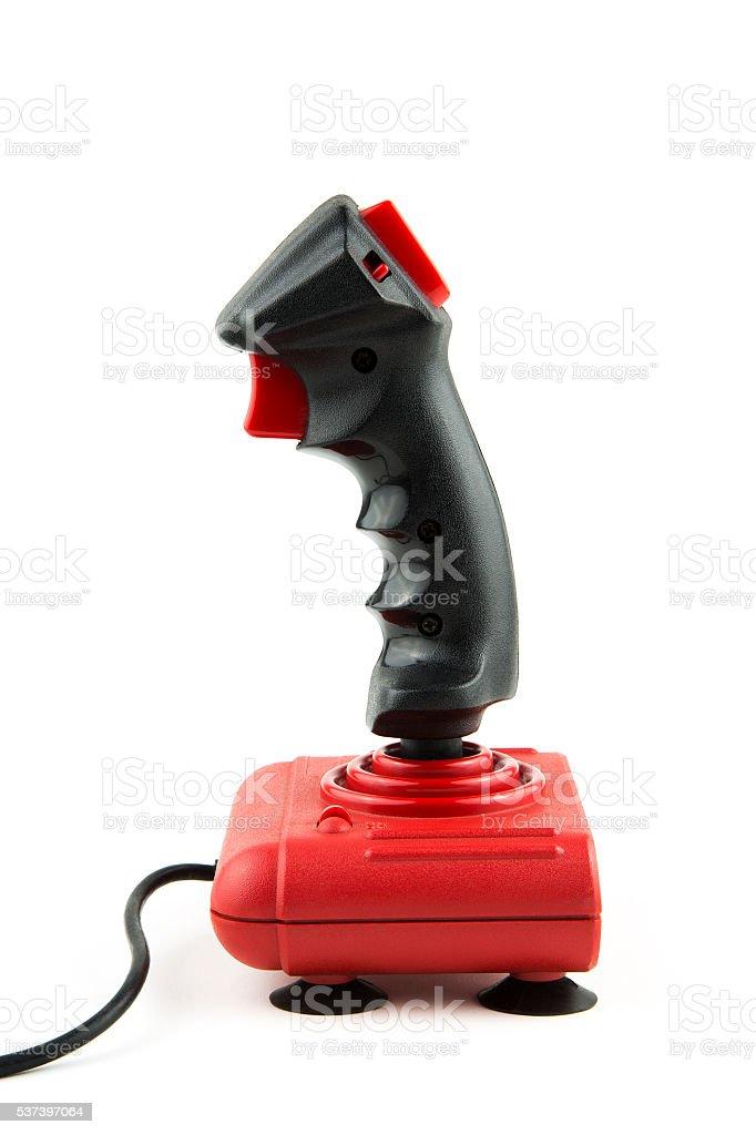 isolated joystick stock photo