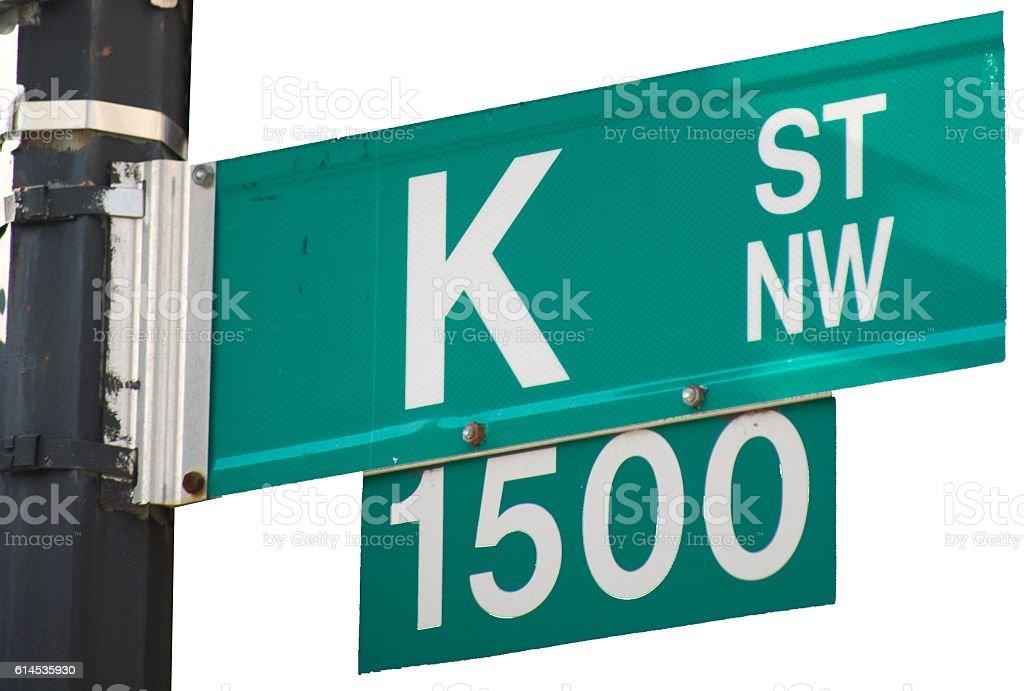 Isolated K Street - Street Sign stock photo