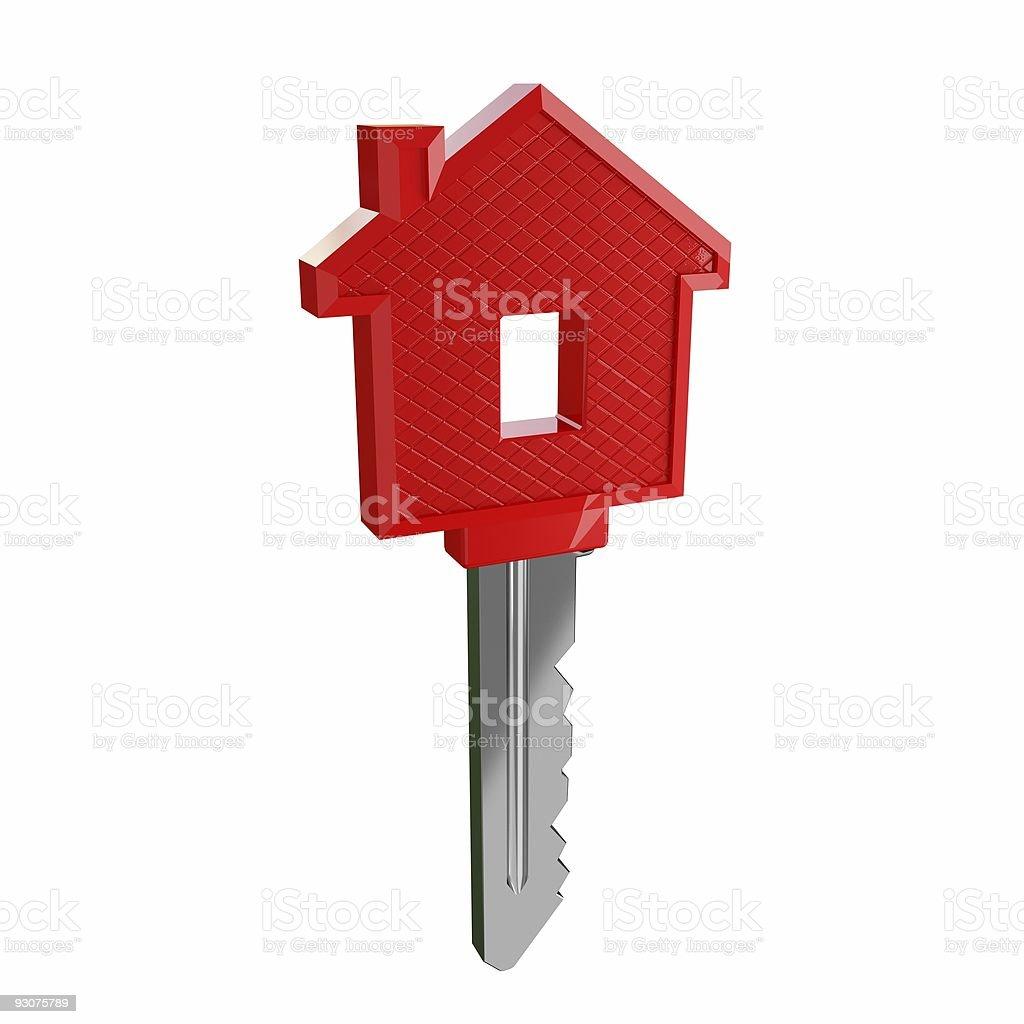isolated key of dream house stock photo