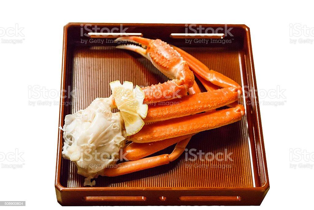 Isolated king crab leg. stock photo