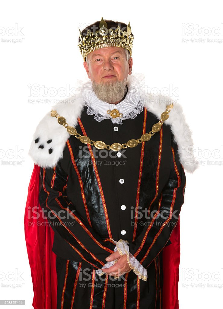 Isolated king stock photo