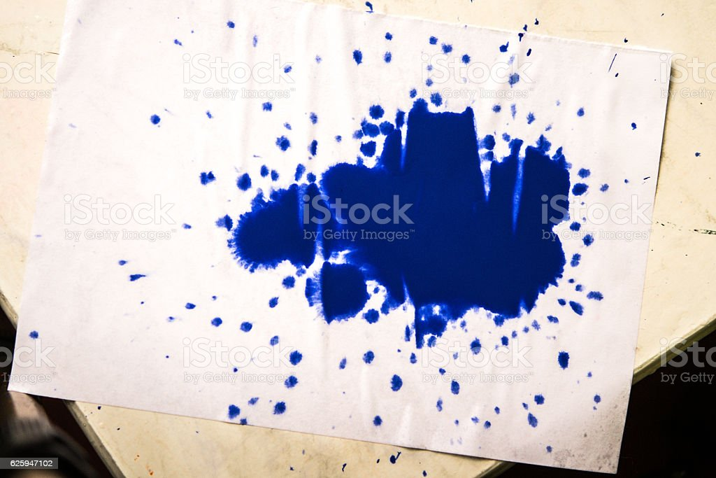isolated large patches spots blots of splash Blue colors stock photo