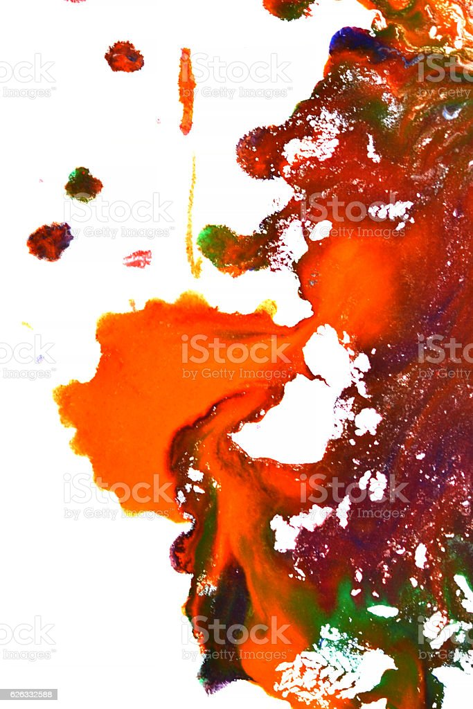 isolated large patches spots blots of splash mixed colors stock photo